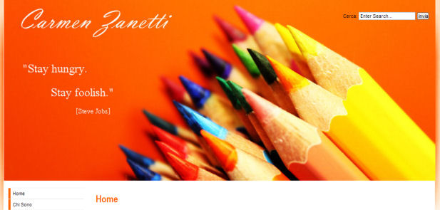 Carmen Zanetti - realizzazione sito web